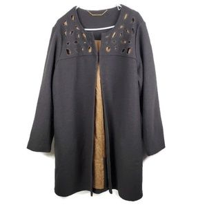 Soft Surroundings Long Sleeve Wool Cape Jacket